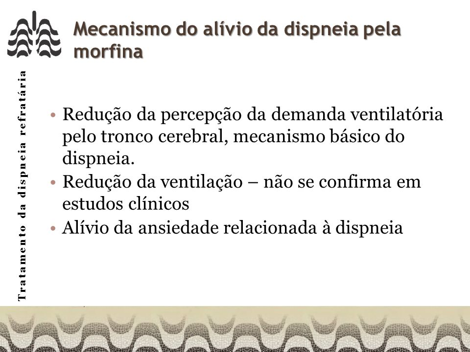 Mecanismo do alívio da dispneia pela morfina