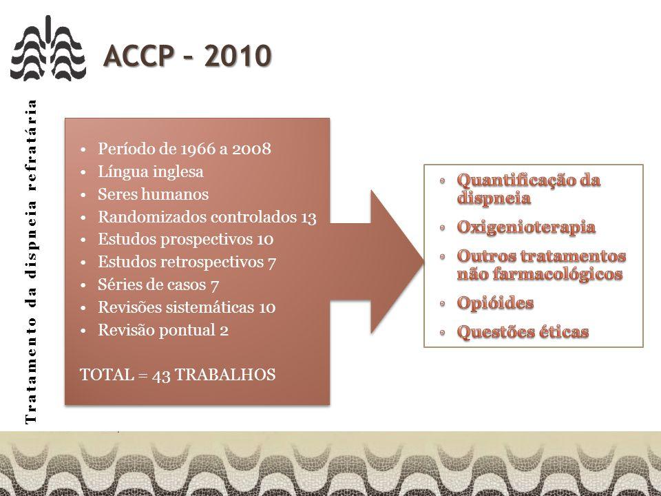 ACCP – 2010 Período de 1966 a 2008 Língua inglesa Seres humanos
