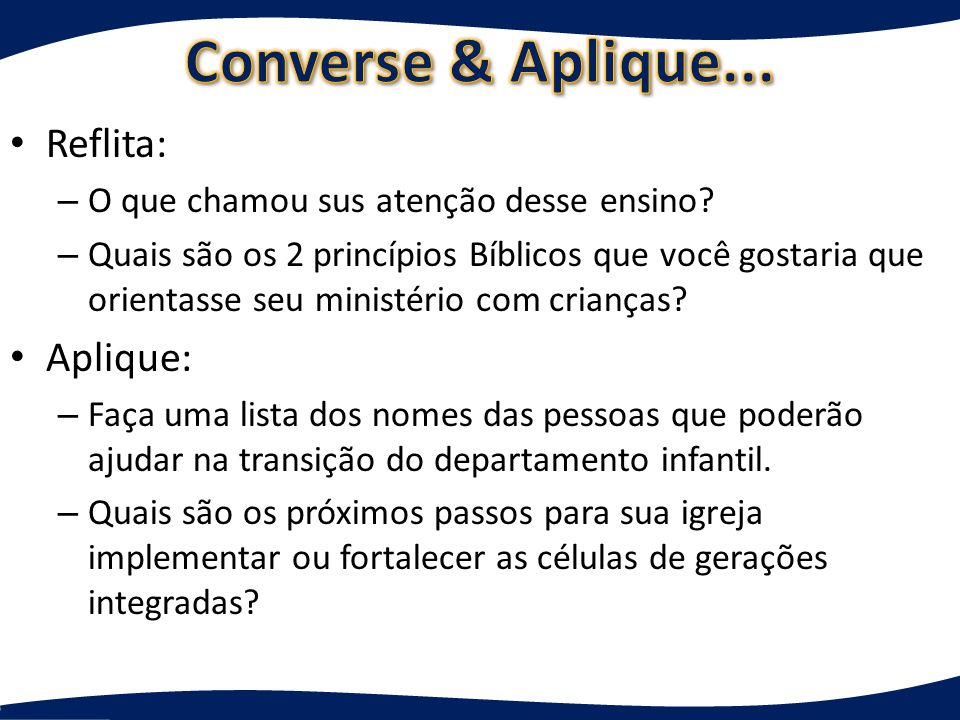 Converse & Aplique... Reflita: Aplique:
