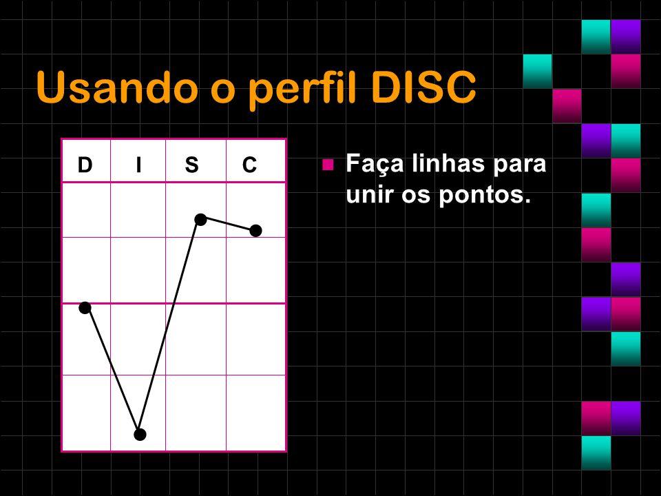 Usando o perfil DISC Faça linhas para unir os pontos. D I S C • • • •