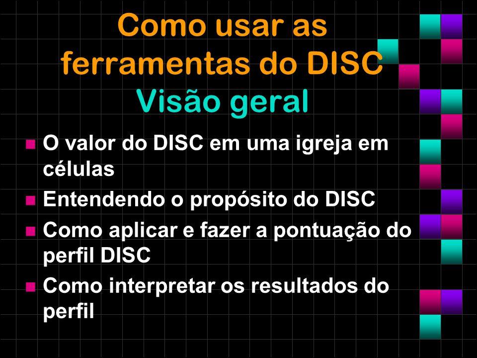 Como usar as ferramentas do DISC Visão geral