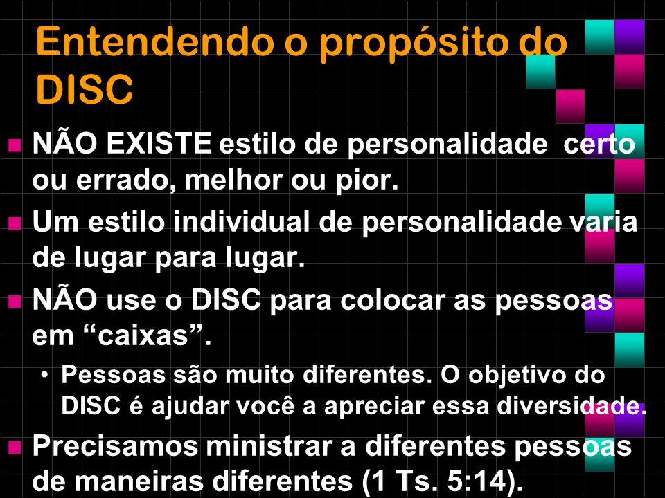 Entendendo o propósito do DISC