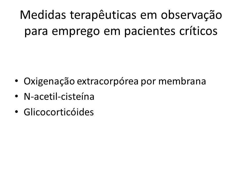 Medidas terapêuticas em observação para emprego em pacientes críticos