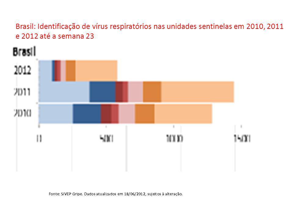 Brasil: Identificação de vírus respiratórios nas unidades sentinelas em 2010, 2011