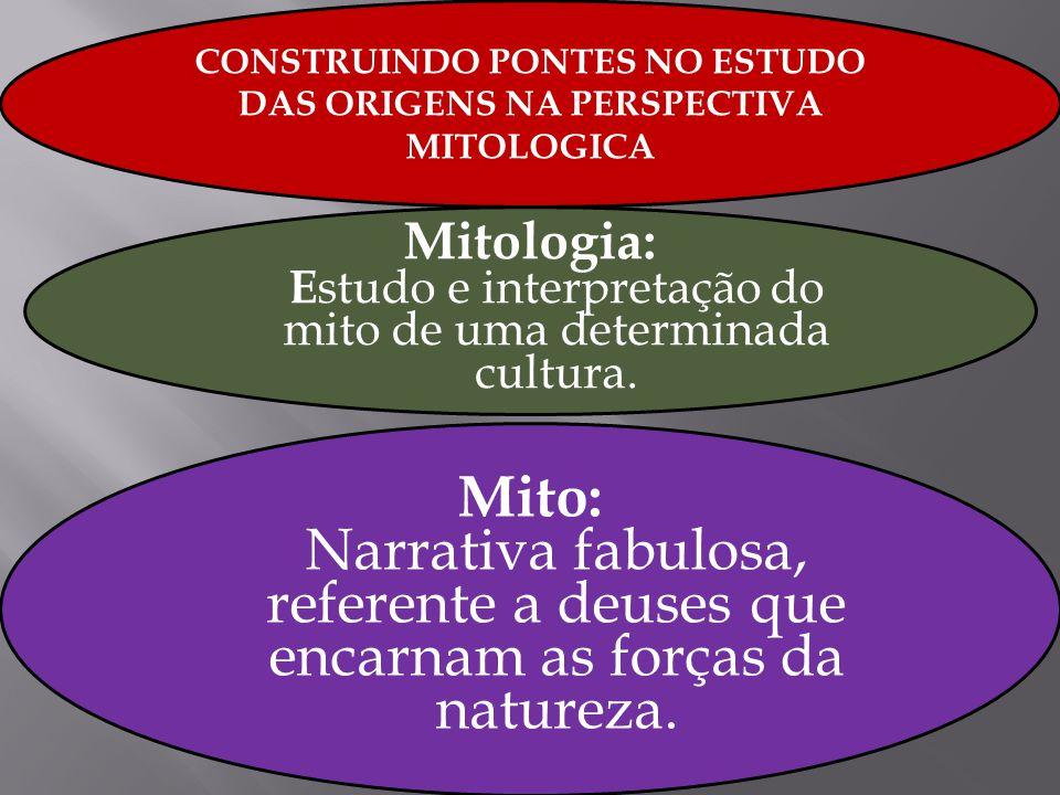 CONSTRUINDO PONTES NO ESTUDO DAS ORIGENS NA PERSPECTIVA MITOLOGICA