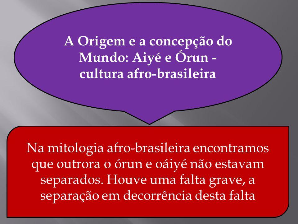 A Origem e a concepção do Mundo: Aiyé e Órun - cultura afro-brasileira