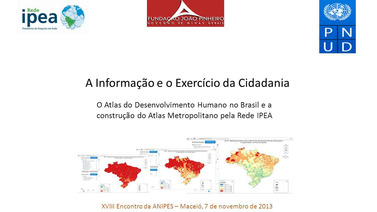 XVIII Encontro da ANIPES – Maceió, 7 de novembro de 2013