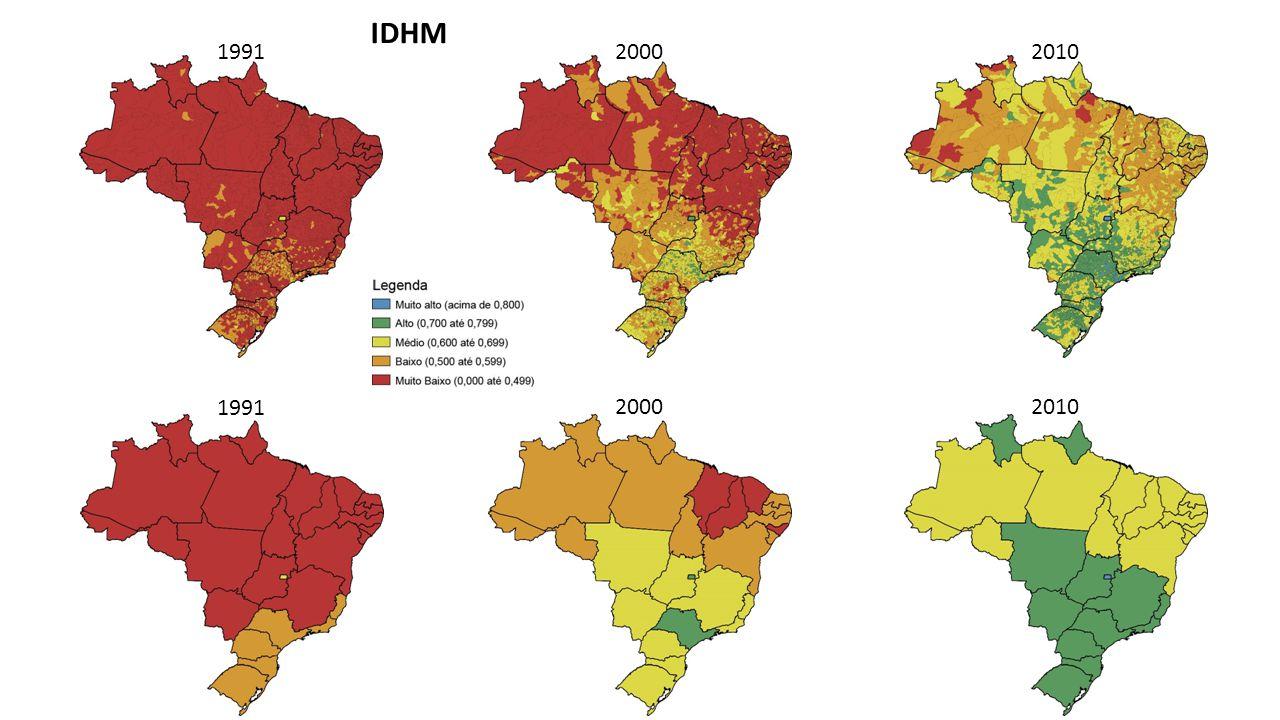 IDHM 1991 2000 2010 1991 2000 2010