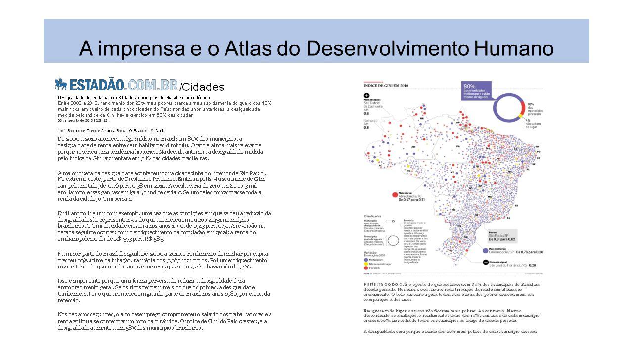 A imprensa e o Atlas do Desenvolvimento Humano