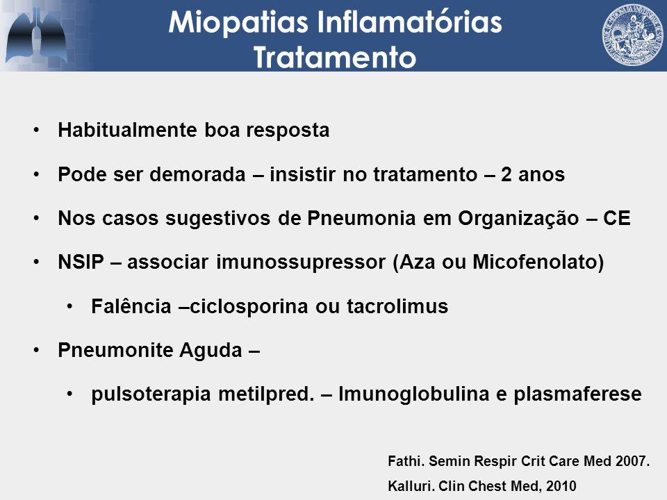 Miopatias Inflamatórias Tratamento