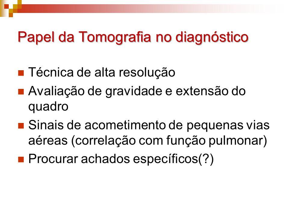 Papel da Tomografia no diagnóstico