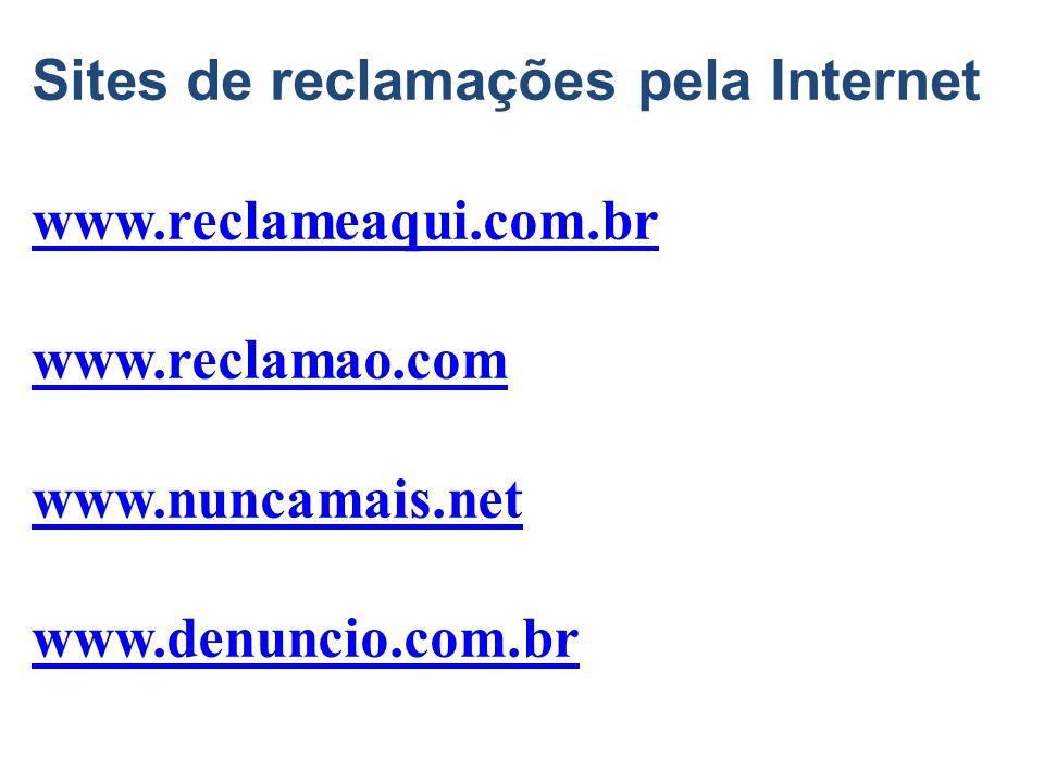 Sites de reclamações pela Internet