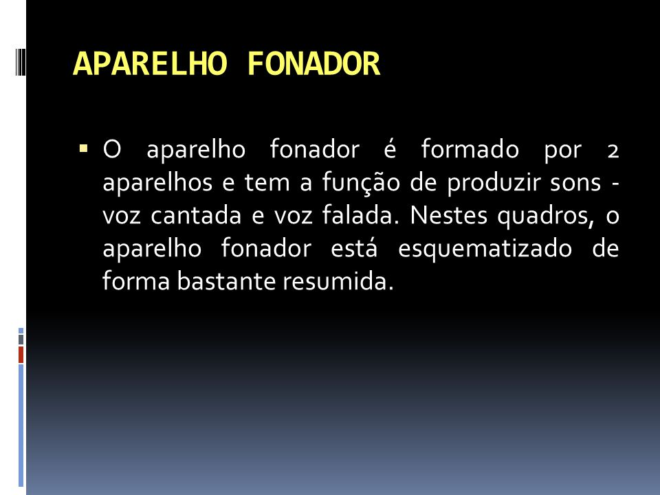 APARELHO FONADOR