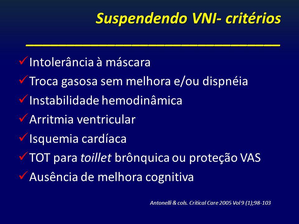 Suspendendo VNI- critérios _______________________________