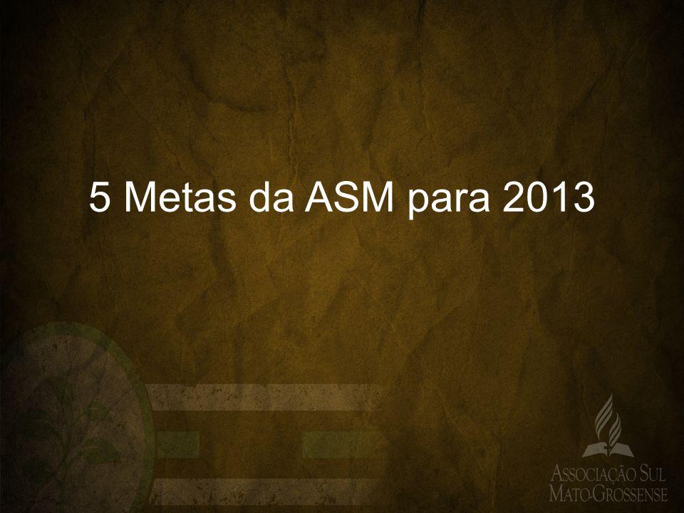 5 Metas da ASM para 2013