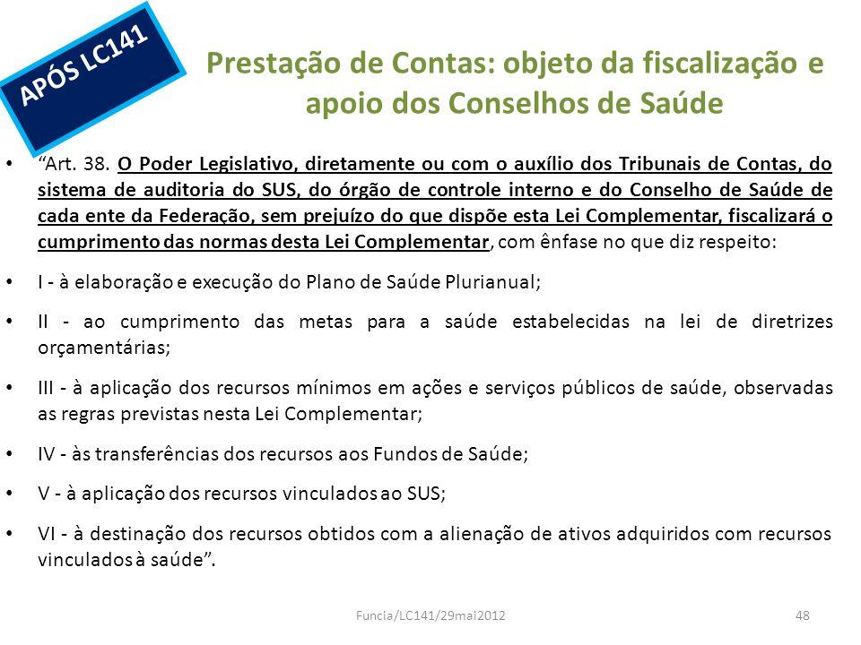 Prestação de Contas: objeto da fiscalização e apoio dos Conselhos de Saúde