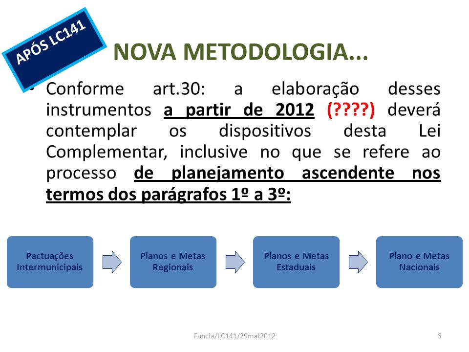 APÓS LC141 NOVA METODOLOGIA...