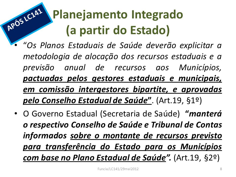 Planejamento Integrado (a partir do Estado)