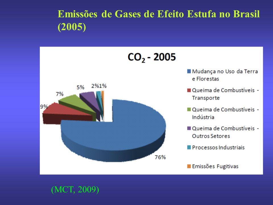 Emissões de Gases de Efeito Estufa no Brasil (2005)
