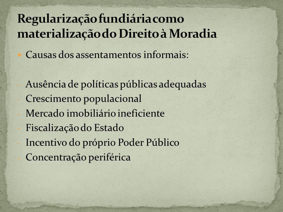 Regularização fundiária como materialização do Direito à Moradia
