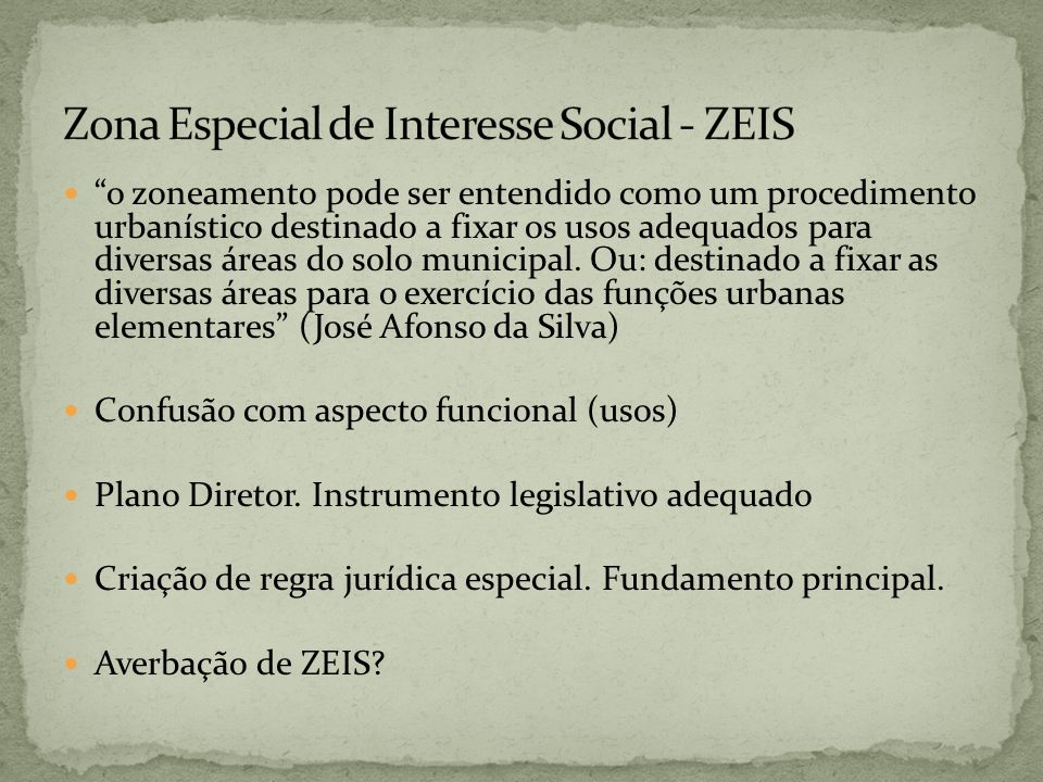 Zona Especial de Interesse Social - ZEIS