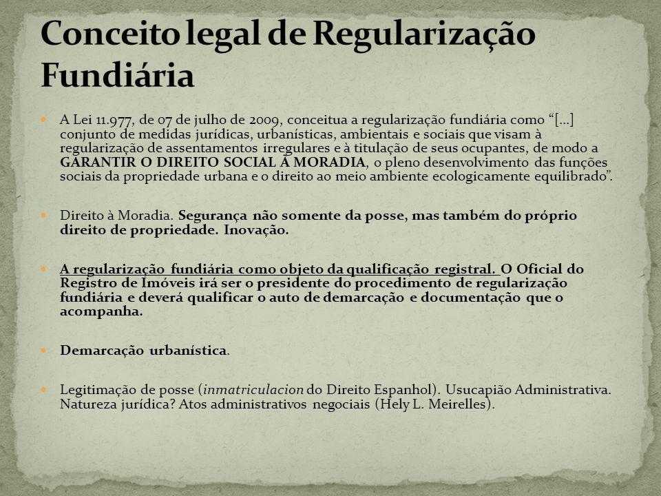 Conceito legal de Regularização Fundiária