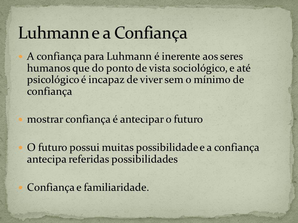 Luhmann e a Confiança