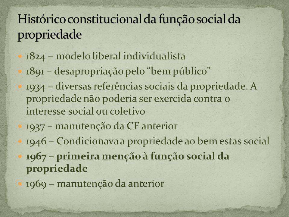 Histórico constitucional da função social da propriedade
