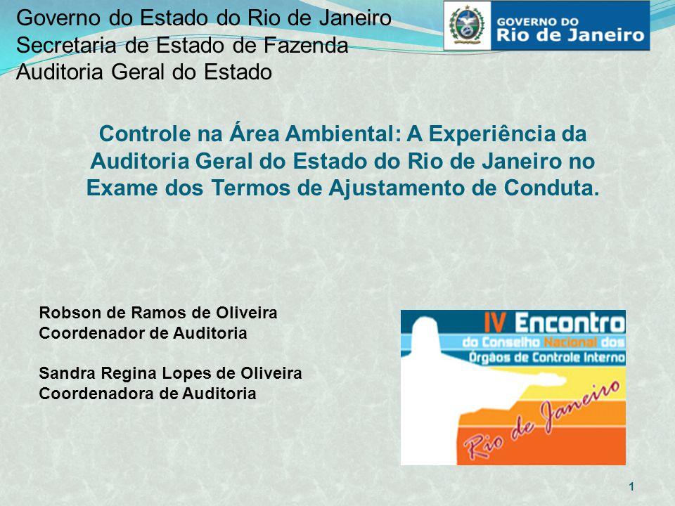 Governo do Estado do Rio de Janeiro Secretaria de Estado de Fazenda Auditoria Geral do Estado