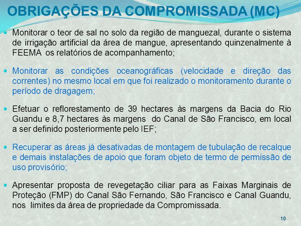 OBRIGAÇÕES DA COMPROMISSADA (MC)