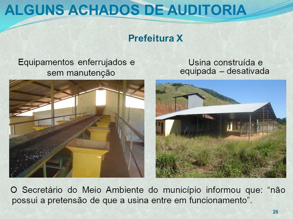 ALGUNS ACHADOS DE AUDITORIA