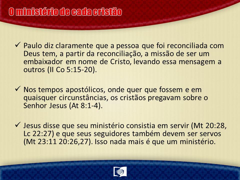O ministério de cada cristão