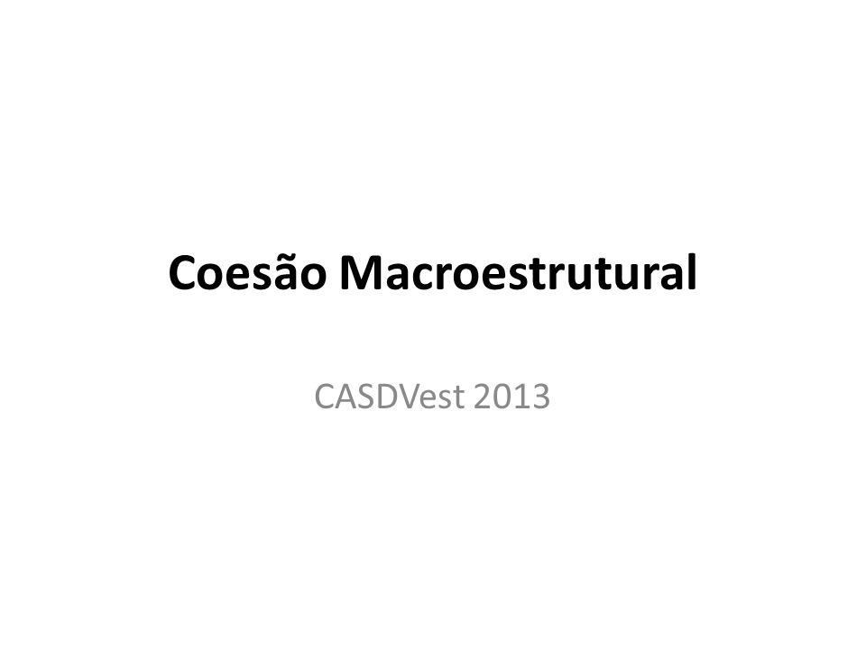 Coesão Macroestrutural