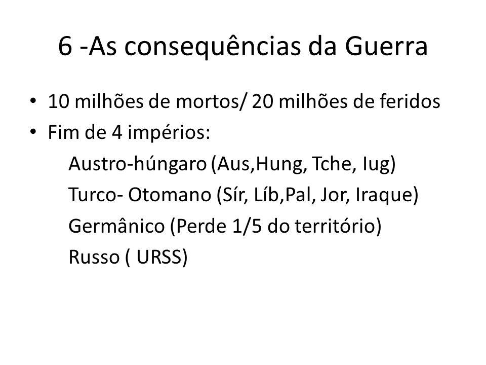 6 -As consequências da Guerra