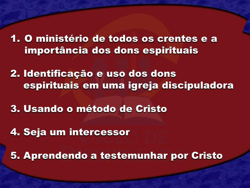 O ministério de todos os crentes e a