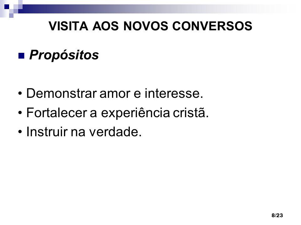 VISITA AOS NOVOS CONVERSOS