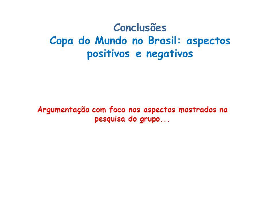 Conclusões Copa do Mundo no Brasil: aspectos positivos e negativos