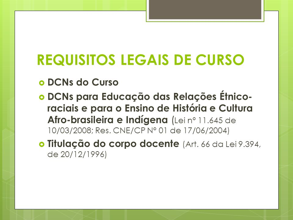 REQUISITOS LEGAIS DE CURSO