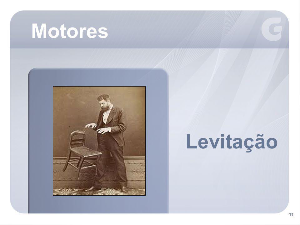 Motores Levitação. Levitação – um ser ou objeto é suspenso no ar, aparentemente contrariando a lei da gravidade.
