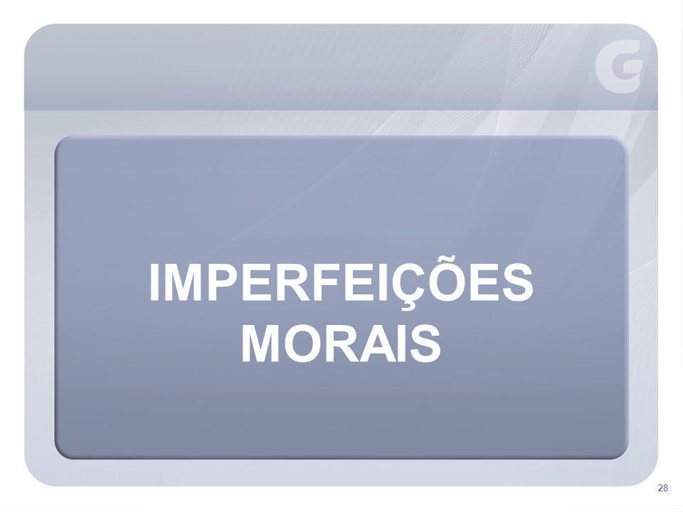 IMPERFEIÇÕES MORAIS