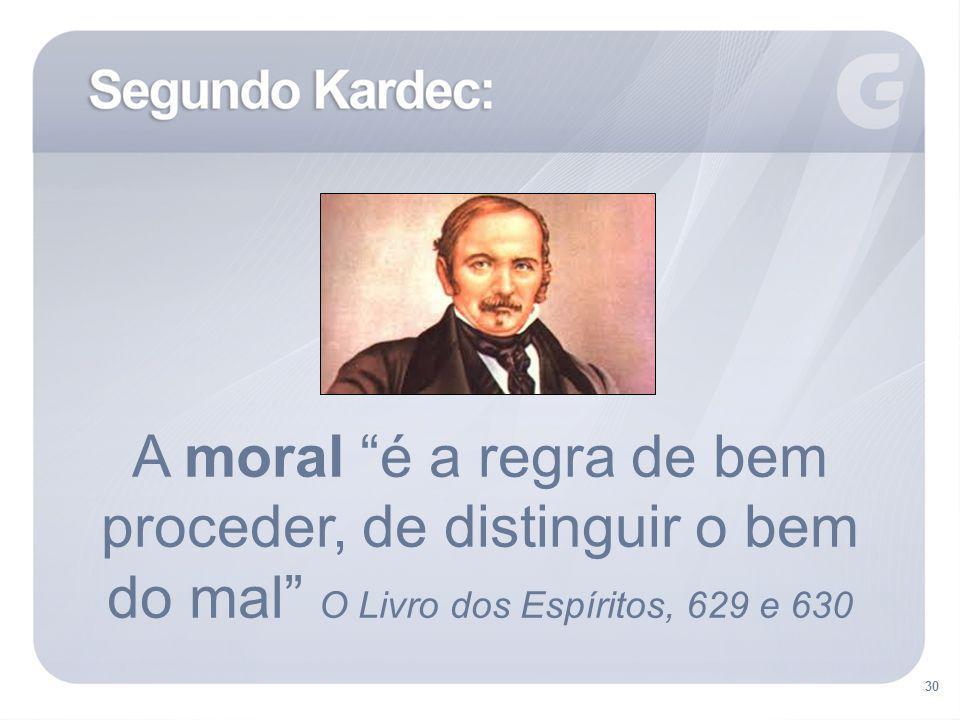 A moral é a regra de bem proceder, de distinguir o bem