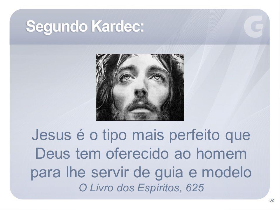 Jesus é o tipo mais perfeito que Deus tem oferecido ao homem para lhe servir de guia e modelo