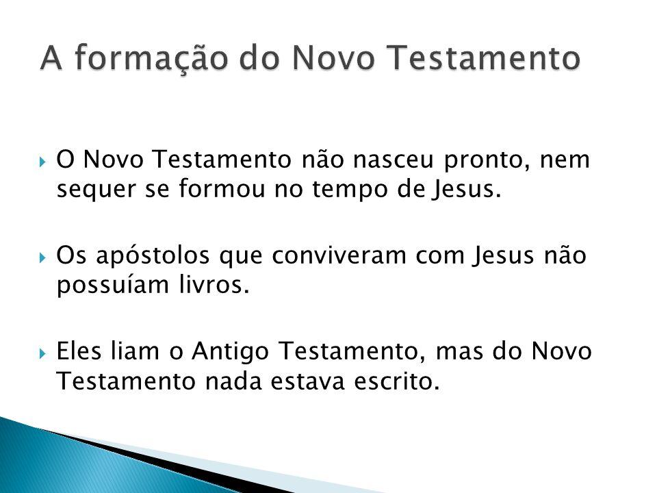 A formação do Novo Testamento