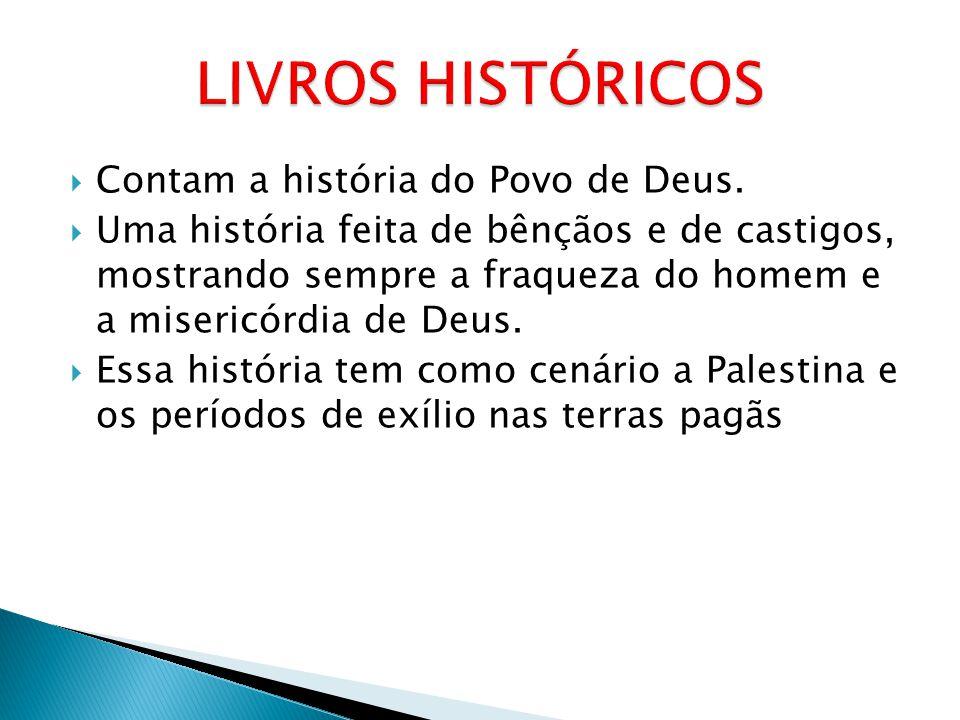 LIVROS HISTÓRICOS Contam a história do Povo de Deus.