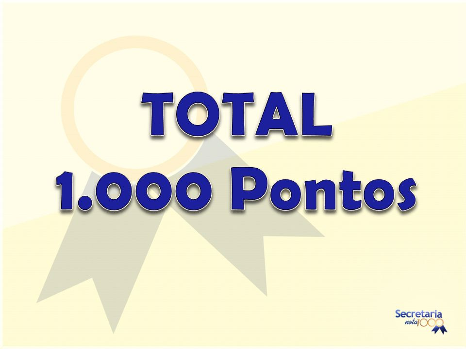 TOTAL 1.000 Pontos
