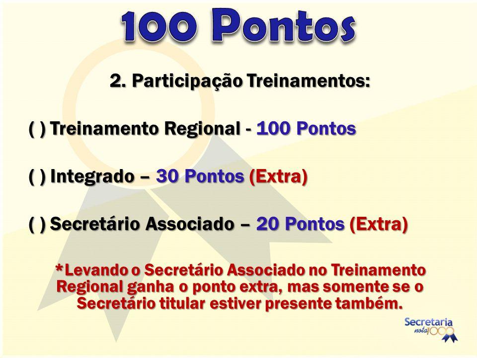 2. Participação Treinamentos: