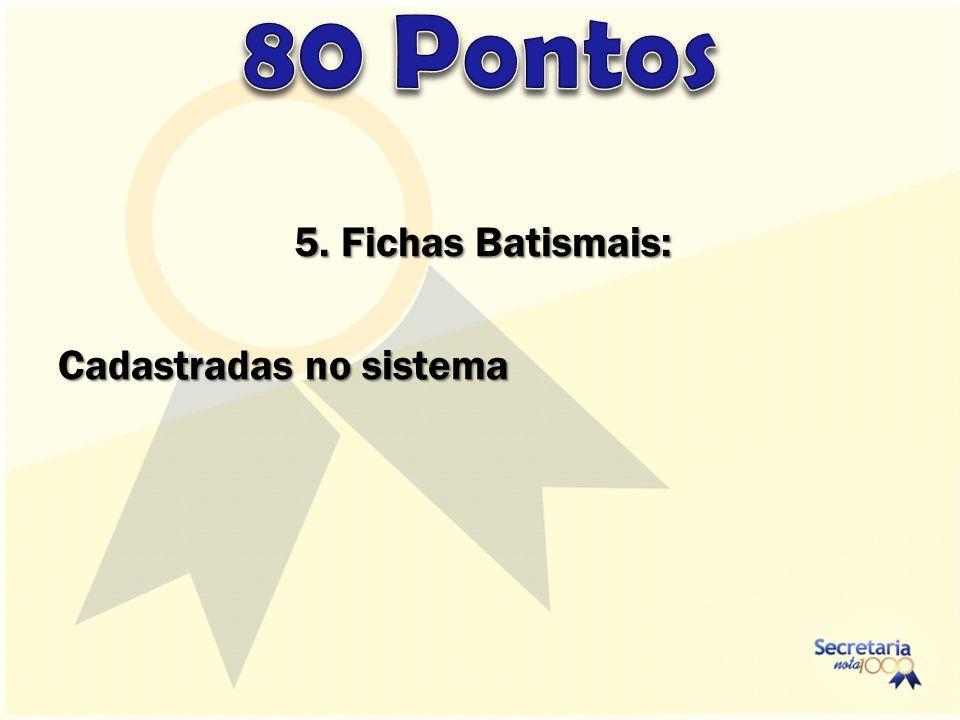 5. Fichas Batismais: Cadastradas no sistema
