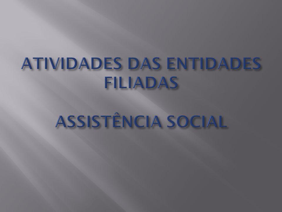 ATIVIDADES DAS ENTIDADES FILIADAS ASSISTÊNCIA SOCIAL