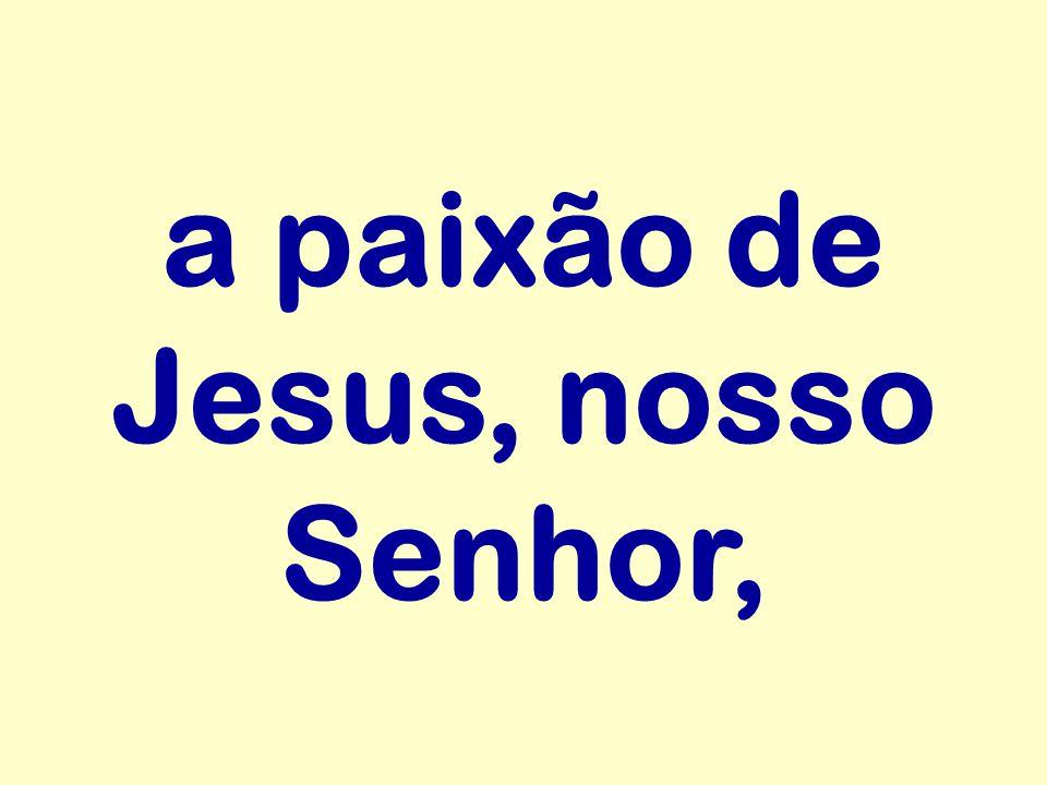 a paixão de Jesus, nosso Senhor,