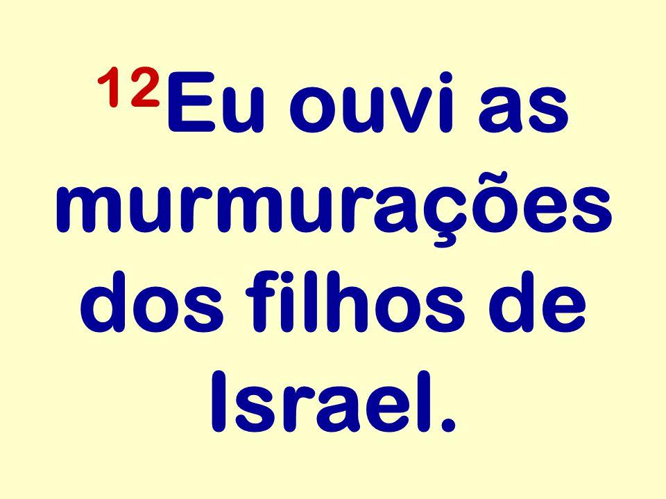 12Eu ouvi as murmurações dos filhos de Israel.